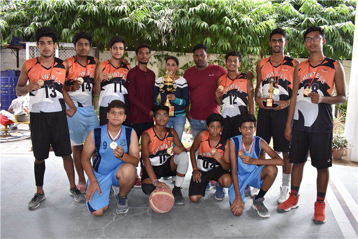 Kudos!!!! The Chintels BasketBall team did it once again. The Chintels Basketball team (boys) won the Late Vijayan Shukla Memorial inter-school Basketball Tournament held at Sir Padampat Singhania Education Centre yesterday. Teams from several reputed schools of the city participated in the event. The finals for the tournament was won by the Chintilians by a score of 57-35. Congratulations to the team and the coach for their efforts and bringing (Ratanlal Nagar)