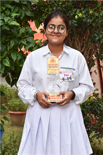 "Another feather added to the glory of the school. Many congratulation to Aadya Rathore of class XI, for bagging the first position in Gopal Krishna Singhania Inter School English DebateCompetition (Speaking for the motion) held at Sir Padampat Singhania Education Centre. The topic of the debate was ""Artificial intelligence will supersede human intuitive thinking"" and Aadya spoke fluently, confidently and convincingly. The arguments presented by h (Kalyanpur)"