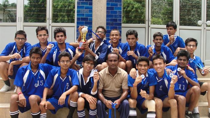 Football Team.Second in Inter-School Basket Ball Tournament. (Ratanlal Nagar)