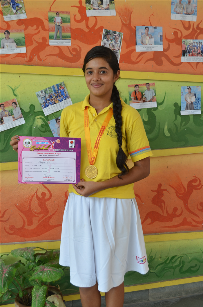 Himjot Kaur, selected for state basketball team and won silver medals at national Basket Ball tournament in Ahemdabad (Ratanlal Nagar)
