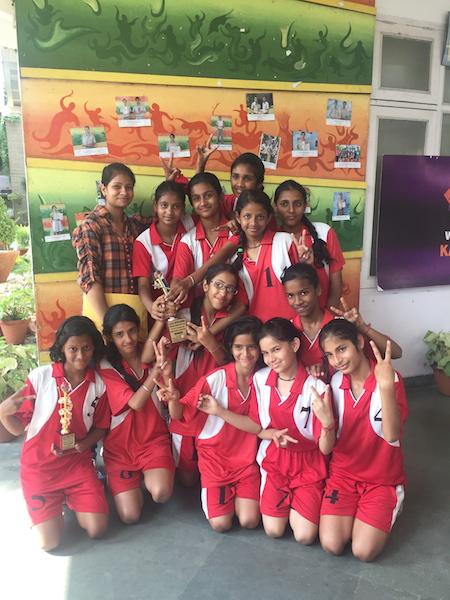 First in Inter School Kho-Kho Tournament. (Ratanlal Nagar)
