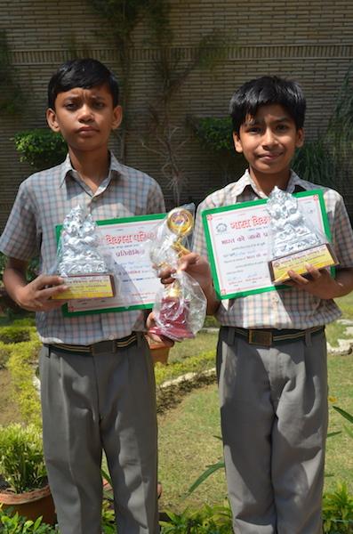 Saksham Kankani and Pranjal Mishra. First In Inter School Bharat Ko Jaano Quiz (Ratanlal Nagar)