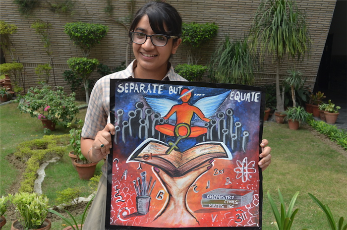 First in Inter School Art Competition Eshanika Khanna (Ratanlal Nagar)