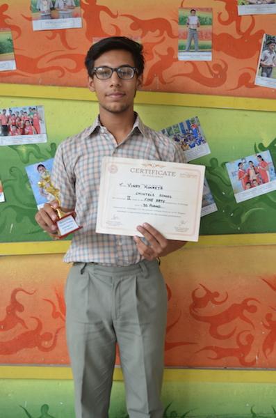 Second in Inter School Art Competition. Vinay Kukreja. (Ratanlal Nagar)