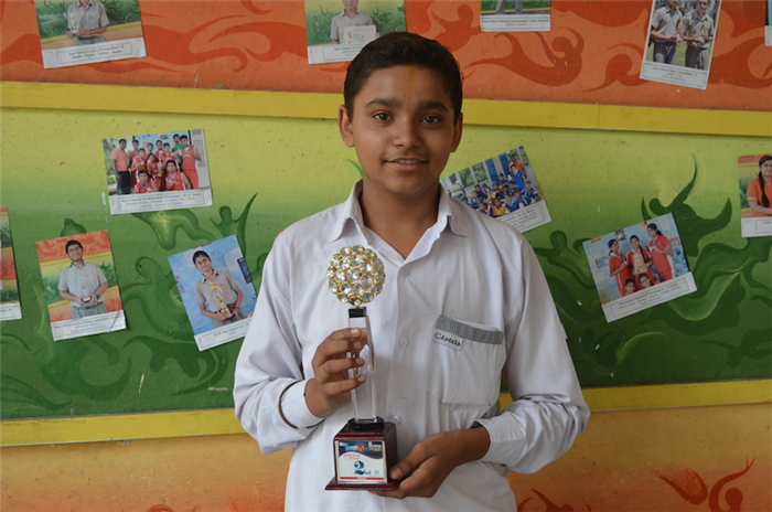 Second in Inter School Folk Singing. Vaibhav Shukla (Ratanlal Nagar)