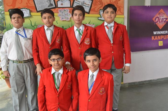 Winners of Cyber Olympiad II Round. Pranav Kanodia, Dev Sachan, Aryaman Vohra, Jai Manwani, Raghav Mishra, Yash Katiyar. (Ratanlal Nagar)
