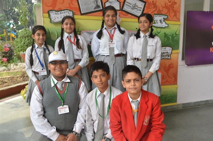 Winners of Olympiad - Uditi Mahindra, Aadhya Tripathi, Alisha Talreja, Kavya Yadav, Tanmay Bhatia, Akshay Malhotra, Devansh Pratap Singh. (Ratanlal Nagar)