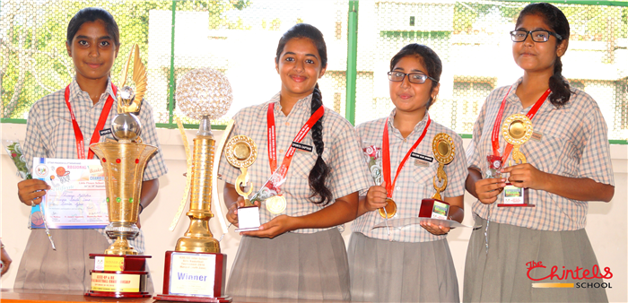 Winners of Inter-School Girls Basketball Tournament-2016 (Ratanlal Nagar)