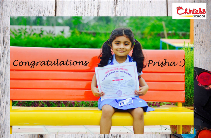 Hearty congratulations to Prisha Gupta of Grade- Nursery of The Chintels School, Kalyanpur for bagging a consolation prize at the Inter School Drawing Competition held at Prachee Banga Bhaban Parishad, Arya Nagar Kanpur. (Kalyanpur)