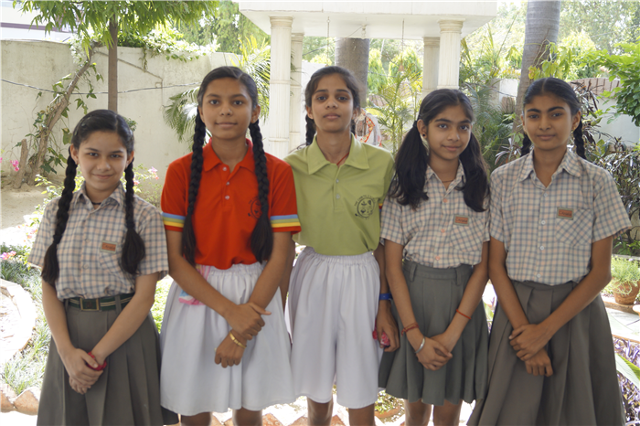 """""""Life is like a Kho Kho game moving around in circles not knowing who will touch us and when."""" Jyotsna Yadav, Nancy Yadav, Vanshika Singh, Akshita SIngh,  Karishma Kapoor the star performers of The Chintels School , Ratanlal Nagar made the school proud by getting selected in the State Level Kho Kho Team. (Ratanlal Nagar)"""