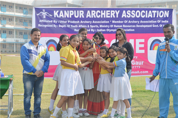 Girls team of The Chintels School, Kalyanpur has turned 2nd Runner up in Inter- School Archery Competition. (Kalyanpur)