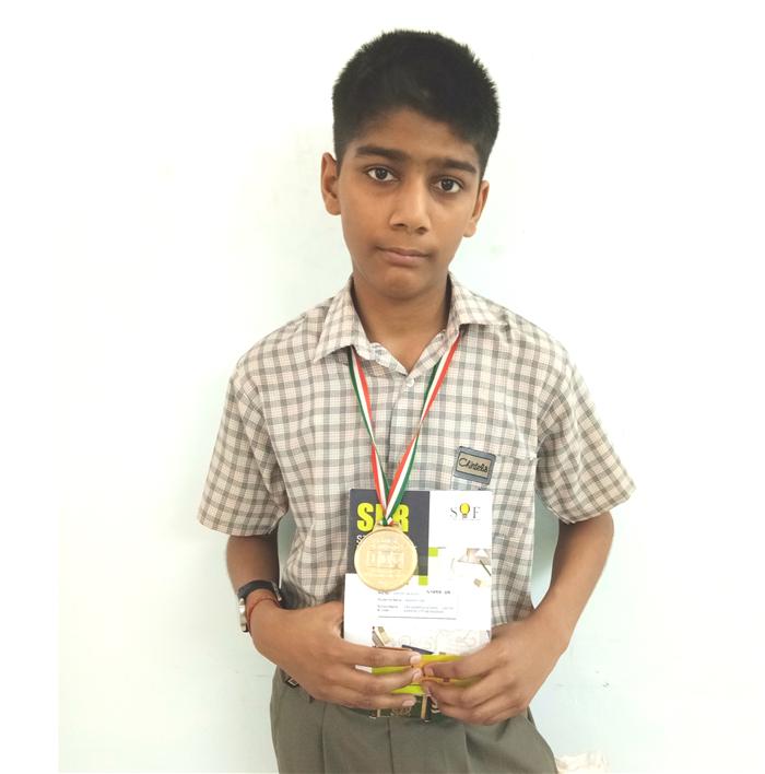 Akasht Jain - VII D Medal of  Distinction - Maths Olympiad Level - I (Ratanlal Nagar)