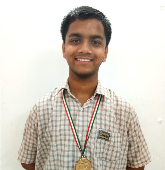 Chitransh Nigam - VIII A Medal of Distinction - Science Olympiad Level - II (Ratanlal Nagar)