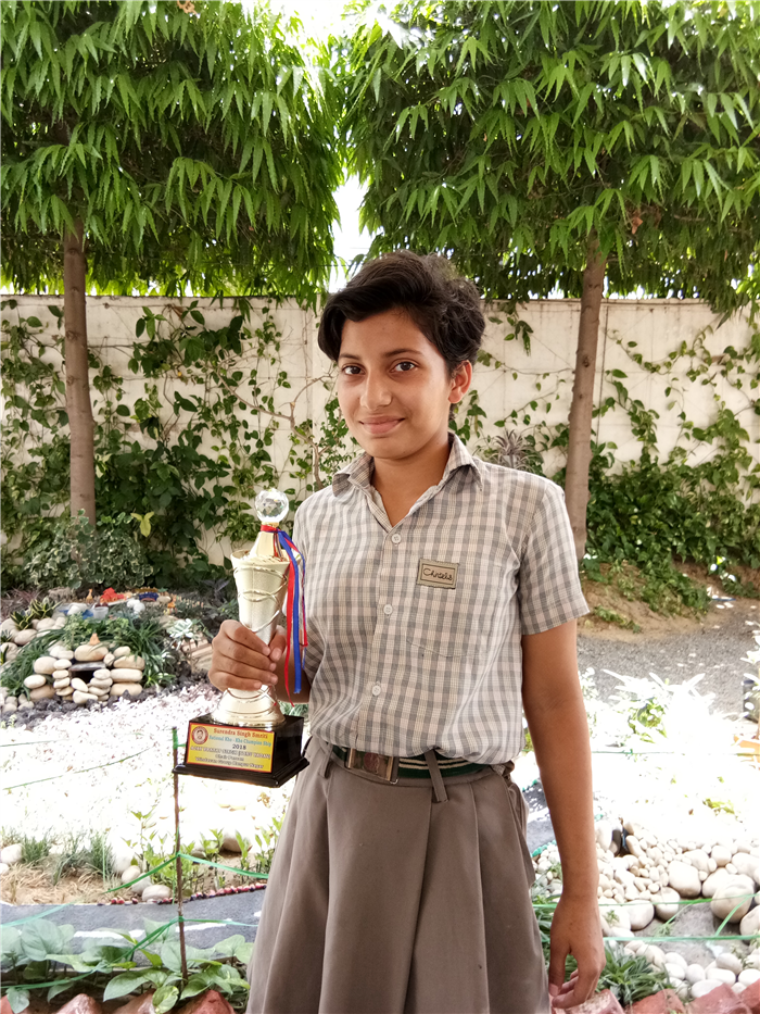 Pravertika Verma of Class - VIII has been declared the Best Chaser of the Day in Sub Junior National Kho Kho Championship. (Ratanlal Nagar)