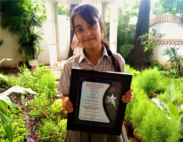 Uditi Mahindra ISC INter School English Debate - Ist Runner Up (Ratanlal Nagar)