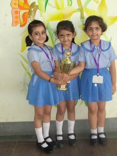 Radhya,Rajnandini & Jovika. First in Inter School Drawing and & Painting Competition. (Ratanlal Nagar)