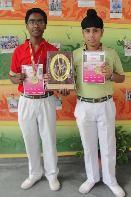 Aayush and Jasmeet Singh. First in Inter School Archery Tournament. (Ratanlal Nagar)
