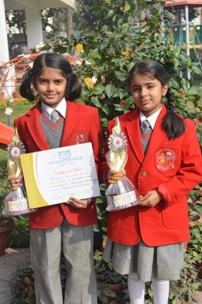 Teesha Gupta & Jhalak Sehgal. Second in Inter School Recitation (Ratanlal Nagar)