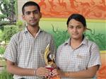 Ashutosh Sahu and Shreya.First in ISC Creative Writing. (Ratanlal Nagar)