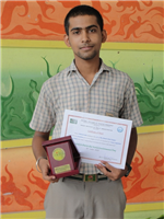 Ashutosh Sahu.Consolation All over India in Inter School Creative Writing (Hindi). (Ratanlal Nagar)