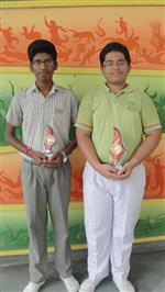 Shikar Srivastave and Mayank Bhola. First in ICSE Hindi Creative Writing (Ratanlal Nagar)