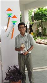 Sujoy Datta. Second in ICSE Inter School English Creative Writing (Ratanlal Nagar)