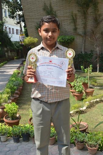 Vaibhav Shukla. First Inter School Singing Competition (Ratanlal Nagar)
