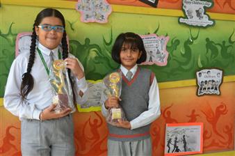 Third in Inter School Recitation. Jasmine Kaur and Tisha Gupta. (Ratanlal Nagar)