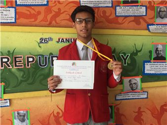 Vinay Kukreja won the First position in Inter School Painting Competition. (Ratanlal Nagar)