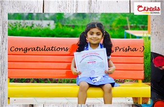 Hearty congratulations to Prisha Gupta of Grade- Nursery of The Chintels School, Kalyanpur for bagging a consolation prize at the Inter School Drawing Competition held at Prachee Banga Bhaban Parishad, Arya Nagar Kanpur. (Kalyanpur)