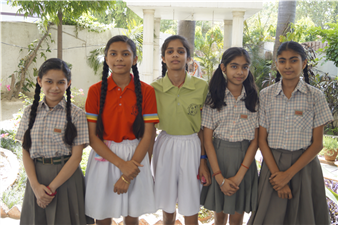 """Life is like a Kho Kho game moving around in circles not knowing who will touch us and when."" Jyotsna Yadav, Nancy Yadav, Vanshika Singh, Akshita SIngh,  Karishma Kapoor the star performers of The Chintels School , Ratanlal Nagar made the school proud by getting selected in the State Level Kho Kho Team. (Ratanlal Nagar)"