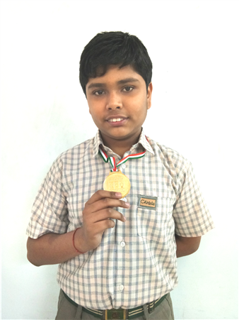Aakansh Mishra - VII C Medal of Distinction - Cyber Olympiad Level - I (Ratanlal Nagar)