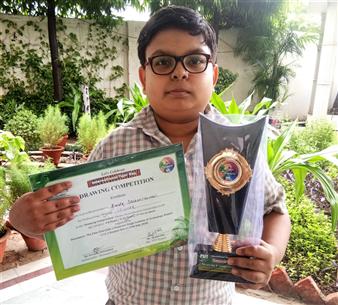 Kartik Sachan Winner PSIT Drawing COmpetition (Ratanlal Nagar)