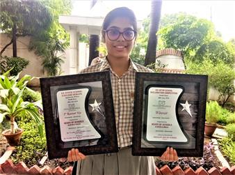 Neerja Juneja IISC INTER SCHOOL ENGLISH DEBATE COMPETITION Ist Runner Up  and ISC INTER SCHOOL DECLAMATION COMPETITION Winner (Ratanlal Nagar)