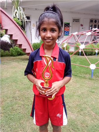 Khyati Tripathi - Best Chaser at Inter School ICSE U-17 Kho Kho championship - 2018 (Ratanlal Nagar)