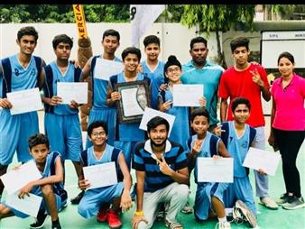 Winners of ICSE Inter School U-17 basket ball (Boys) Tournament South Zone (Ratanlal Nagar)