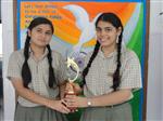 Aishwarya Anand and Neerja Juneja. Second in inter school declamation. (Ratanlal Nagar)