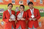 Charu Pandey, Smran Singh and Yash Maheshwari. Second in Inter School Tech talk in All India Compfest. (Ratanlal Nagar)