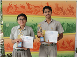 Simran Singh and Saiyam Bhatnagar. Firts in ICSE English Debate (Ratanlal Nagar)
