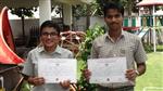 Simran Singh and Saiyam Bhatnagar. First in ICSE Inter School Hindi Debate (Ratanlal Nagar)