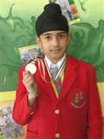 Harjas Singh.First in city level Olympiad (Ratanlal Nagar)